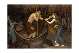 Charon and Psyche Giclee Print by John Roddam Spencer Stanhope