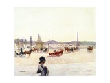 Paris, Place De La Concorde Giclee Print by Gustave Fraipont