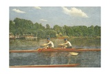The Biglin Brothers Racing Giclee Print by Thomas Cowperthwait Eakins