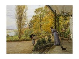 Waiting on the Verandah Giclee Print by Marie Francois Firmin Girard