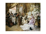 An Elegant Tea Party in the Artist's Studio Giclee Print by Madeleine Jeanne Lemaire
