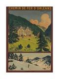 Chemin De Fer D'Orleans, French Railway Travel Poster Giclee Print