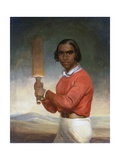 Portrait of Nannultera, a Young Poonindie Cricketer Giclee Print by John Michael Crossland