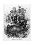 The Boiling Point Political Cartoon Giclee Print by Leonard Raven-hill