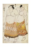 Full-Length Portraits of Wrestlers from the Eastern Group Giclee Print by  Shunsho