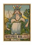 Minneapolis Travel Decal Giclee Print
