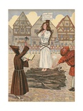 Illustration of Joan of Arc at the Stake Giclee Print by Jacques Onfroy de Breville