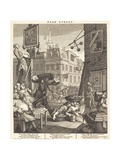 Beer Street Lámina giclée por William Hogarth