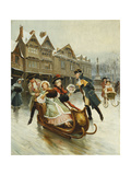 The Suitor's Sleighride Giclee Print by Alonzo Perez