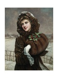 A Winter Beauty by Francois Martin-Kavel Giclee Print by Francois Martin-kavel