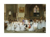 Confirmation at Villiers Le Bel Giclee Print by Theophile Emmanuel Duverger