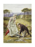 A Gentlemanly Act Giclee Print by George Goodwin Kilburne