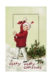 A Merry Merry Christmas Postcard Giclee Print