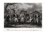 The British Surrendering their Arms to General Washington, 1781 Giclee Print by J. Stephenson
