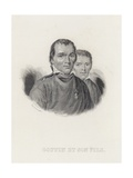 Goffin and His Son by Francois Dequevauviller Giclee Print by Francois Dequevauviller