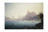 The Bay of Bota-Fogo, Rio De Janeiro Impression giclée par Thomas Ender