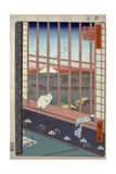 Asakusa Ricefields and Torinomachi Festival Giclee Print by Ando Hiroshige