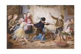 Holiday Riots or the Muckley Children at Play Giclee Print by William Jabez Muckley