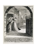 Illustration of Jack Sheppard Escaping from His Cell at Newgate Prison Giclee Print by George Cruikshank