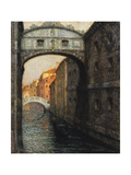 Venice - the Bridge of Sighs Gicléetryck av Henri Le Sidaner