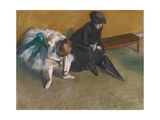 Waiting Giclee Print by Edgar Degas
