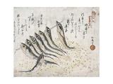 Sardines Giclee Print by Teisai Hokuba