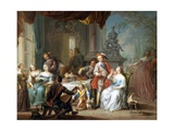 Dining on the Terrace Giclee Print by Franz Christoph Janneck