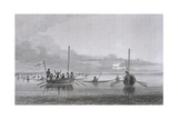 Eskimaux Coming Towards the Boats Giclee Print by Edward Finden