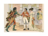 Illustration of Napoleon Offering Joachim Murat the Hand of His Sister Caroline Giclee Print by Jacques Onfroy de Breville