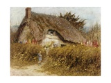 At the Cottage Gate Giclee Print by Helen Allingham