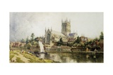 Worcester Cathedral Giclee Print by John O'connor