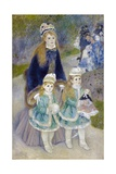 Mother and Children (La Promenade) Giclee Print by Pierre-Auguste Renoir