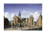 Frederiksborg Castle, the Departure of the Royal Falcon Hunt Giclee Print by Heinrich Hansen