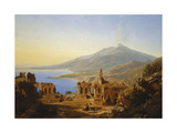 Teatro Greco, Taormina, with Etna Beyond Giclee Print by Karl Robert Kummer