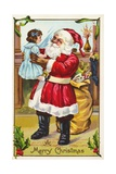 A Merry Christmas Greeting Postcard Giclee Print