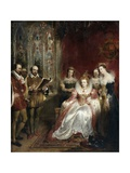 Shakespeare Reading to Queen Elizabeth I Giclee Print by John James Chalon