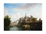 A View of Ghent Giclee Print by Pierre Francois De Noter