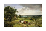 The Haymaker's Lunch Giclee Print by Edward Brooke