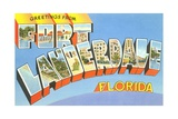 Greetings from Fort Lauderdale, Florida Giclee Print
