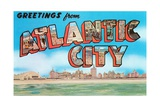 Greetings from Atlantic City, New Jersey Giclee Print
