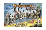 Greetings from Southern California Giclee Print