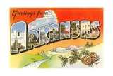 Grüße aus Arkansas Giclée-Druck