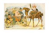 Political Cartoon of the Arrival of Emile Loubet in the United Kingdom Giclee Print