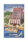 Hotel Alcina, Palma De Mallorca, Espana Luggage Label Giclee Print