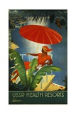 Ussr Health Resorts Intourist Travel Poster Giclee Print