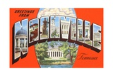 Greetings from Nashville, Tennessee Giclee Print