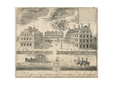 View of Harvard University before the American Revolution Giclee Print