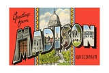 Greetings from Madison, Wisconsin Giclee Print