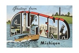 Greetings from Alpena, Michigan Giclee Print