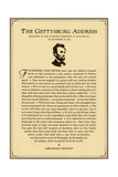 Lincoln's Gettysburg Address Reproduction procédé giclée